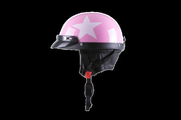 kaciga za elektricni skuter pink star