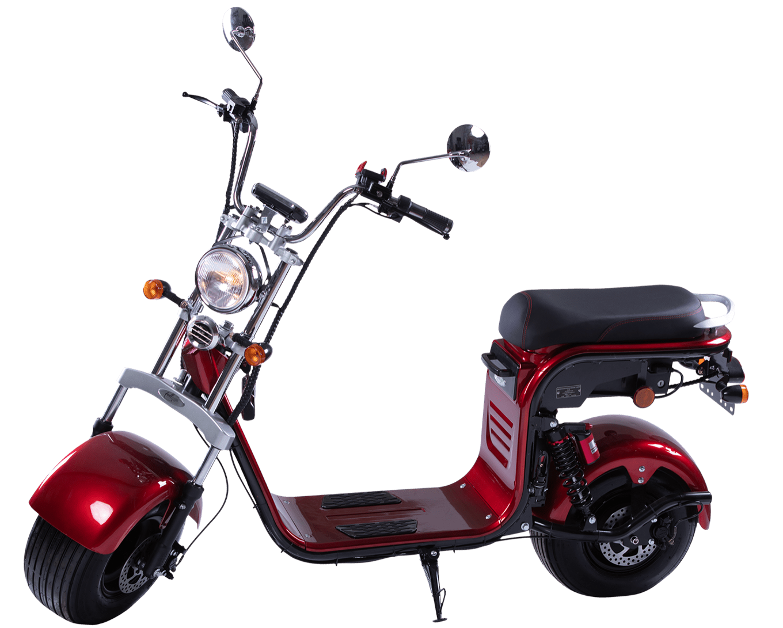 elektricni skuter mini harley red wine 02